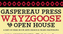 October 25th: Wayzgoose and Open House at Gaspereau Press